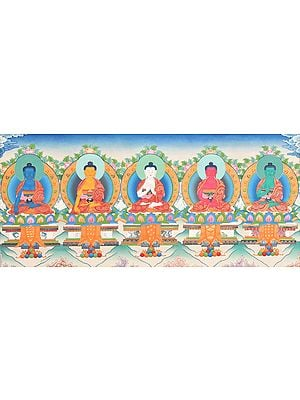Five Dhyani Buddhas (Tibetan Buddhist Deity)
