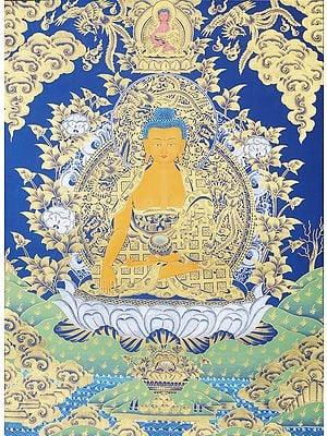 Tibetan Buddhist Shakyamuni Buddha in Bhumisparsha Mudra
