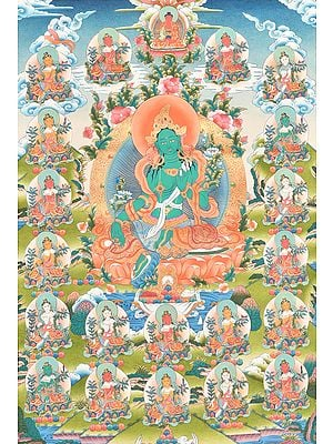 Twenty Two Forms of Tibetan Buddhist Goddess Green Tara