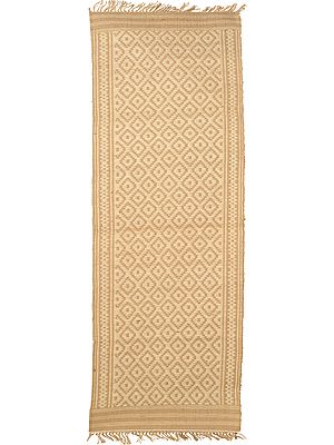 Ivory and Beige Runner from Telangana with Woven Bootis
