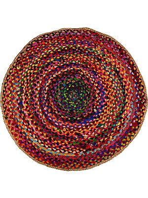 Multicolored Circular Mat