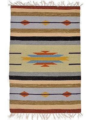 Multicolor Kilim Handloom Dhurrie from Sitapur