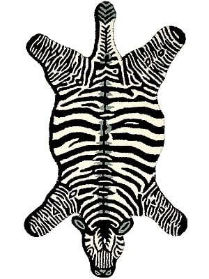 Zebra Yogic Asana Mat from Mirzapur