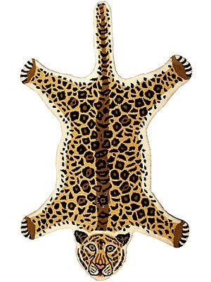 Cheetah Yogic Asana Mat from Mirzapur