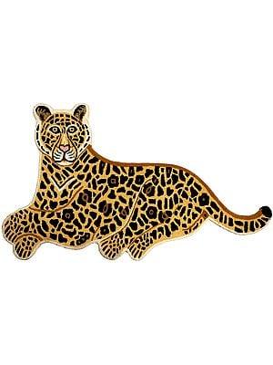 Jaguar Yogic Asana Mat from Mirzapur