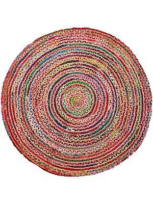Multicolored Round Asana Mat