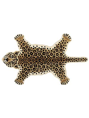 Snow Leopard Yogic Asana Mat from Mirzapur