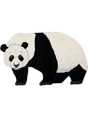 Giant-Panda Yogic Asana Mat from Mirzapur