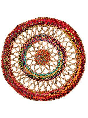 Semolina Hand-Crafted Upcycled Jute and Cotton Circular Yoga Mat
