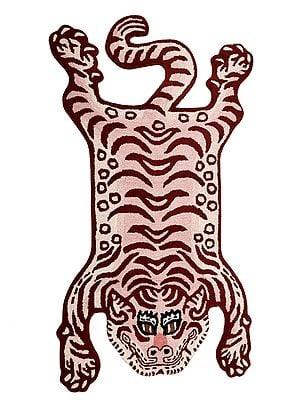 Tibetan Tiger Mat from Mirzapur