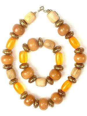 Ethnic Necklace & Bracelet Set (Fashion)