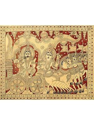 Narayana as Krishna Delivering Gita Upadesha to Arjuna