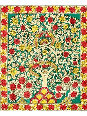 The Tree of Life With Parrots Perched On It