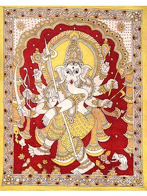 Ashtabhuja-Dhari Nritya Ganesha