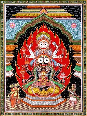 The Trinity of Balarama, Subhadra and Krishna at the Temple of Jagannatha