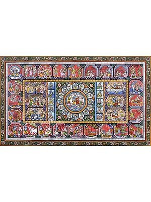 Shri Krishna Lila Pata with Different Episodes of Ramayana