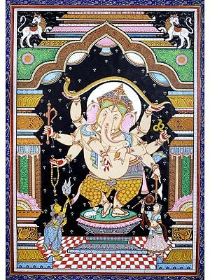 The Princely Form Of Nrtya Ganesha