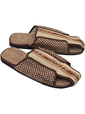 Jute Slippers with Designer Straps