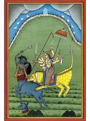 Devi Durga Killing the Demon Mahishasur