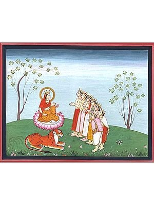 Devotees Pay Homage to Lakshmi