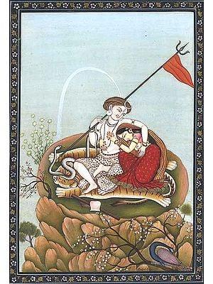 Divine Love of Shiva and Parvati