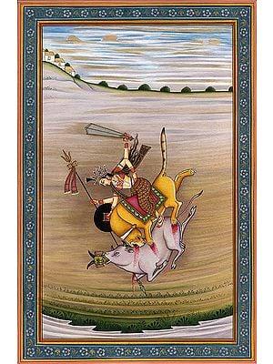 Durga Slays the Demon Mahishasur