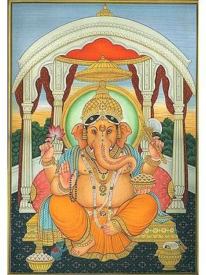 Enthroned Lord Ganesha
