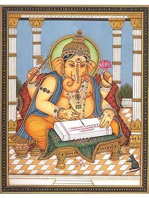 Ganesha Scripting the Mahabharata