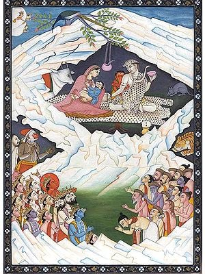 Gods Praying Shiva for their Protection from 'Asuras'