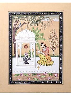 Ragini Bhairavi (Worshipping of Shiva Linga)