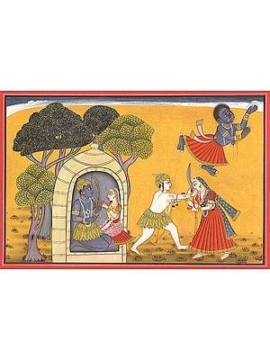 Lakshmana Severes the Nose of Swarupanakha