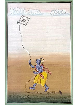 Lord Krishna Flying Kite