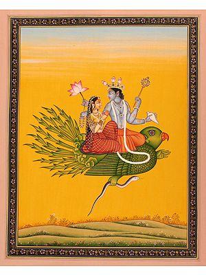 Vishnu and Lakshmi on Garuda