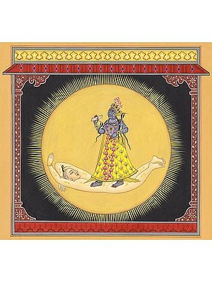 Devi Bhadrakali Contained In Solar Resplendence (Tantric Devi Series)