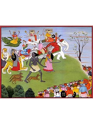 Annihilation of Demons Shumbha and Nishumbha