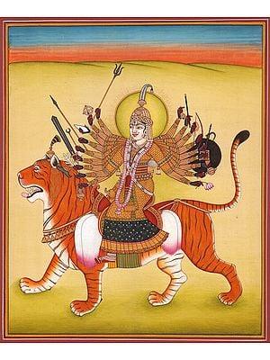 Ashtadasa-bhuja-Dhari Durga