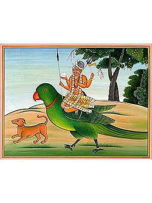 Bhairava Riding a Parrot