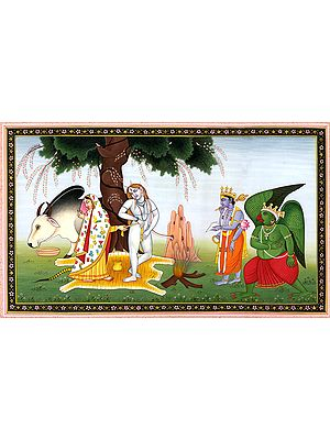 Abashed Parvati Saves Shiva from Immodesty