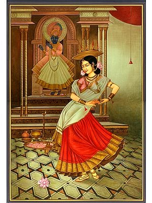 The Dancer's Homage to Krishna