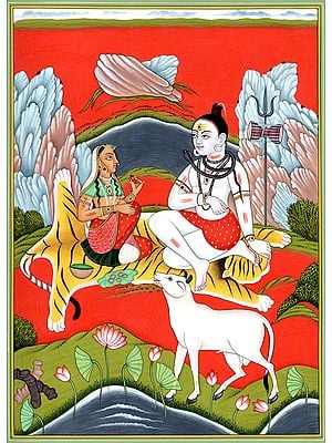 Lord Shiva and Parvati on Mount Kailash