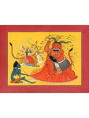 Durga Killing Demon Rakta-bija