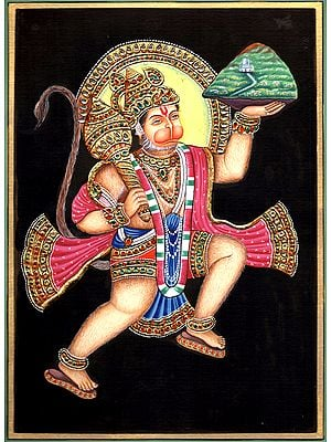 Lord Hanuman Carrying Sanjeevni Booti