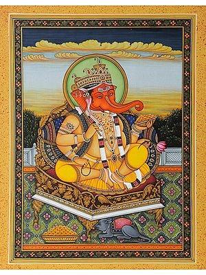 Enthroned Ganesha (Jaipur School)