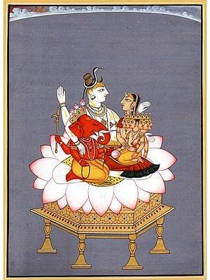 Shivaparivara, The Very Picture Of Conjugal Bliss