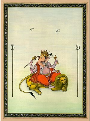 The Simhavahana Of Lord Ganesha