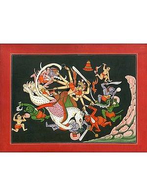 Goddess Durga Killing the Demon Mahishasur