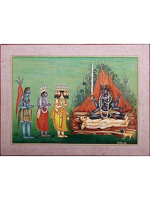 Brahma-Vishnu-Shiva In The Worship Of Devi Kali