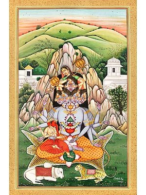 The Birth Of Andhaka, From Devi Parvati's Playfulness Upon Mandara Parvat