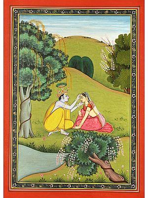 Krishna Arranges Radha's Tikka