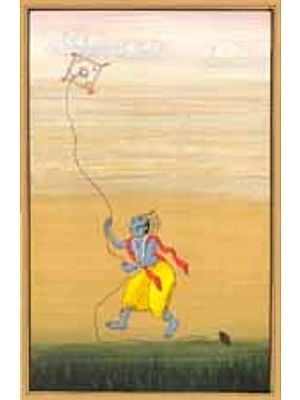 Krishna flying kite